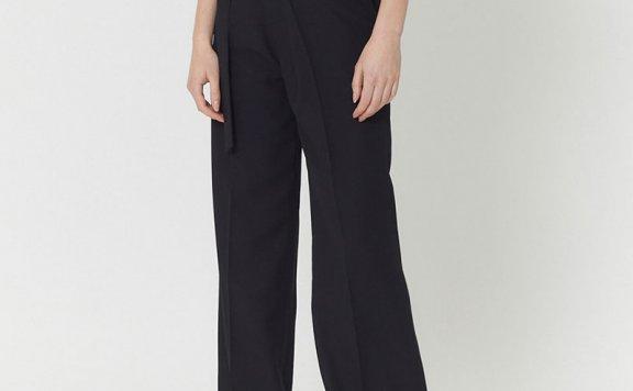 正品HAE BY HAEKIM 韩国设计师品牌 21春夏腰带款直筒阔腿长裤