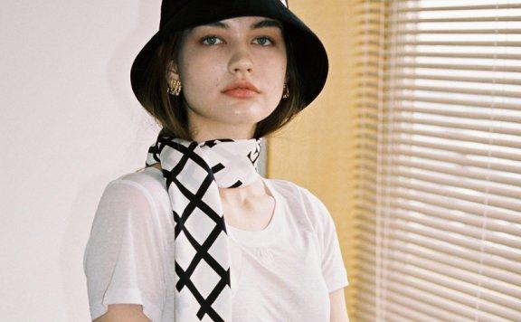 韩国设计师品牌THE ASHLYNN 21春夏纯棉logo款盆帽渔夫帽正品直邮