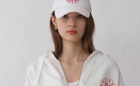 韩国设计师品牌THE ASHLYNN 21春夏 纯棉运动休闲logo款棒球帽