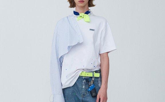 龚俊同款ADER ERROR韩国设计师品牌 20夏款 泼墨彩点圆领短袖T恤