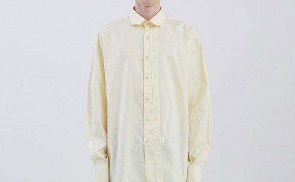 ADER ERROR 韩国设计师品牌 20春夏双门襟刺绣毛边宽松长袖衬衫