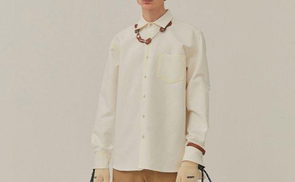情侣款ADER ERROR韩国设计师品牌 20春夏 个性涂鸦宽松长袖衬衫