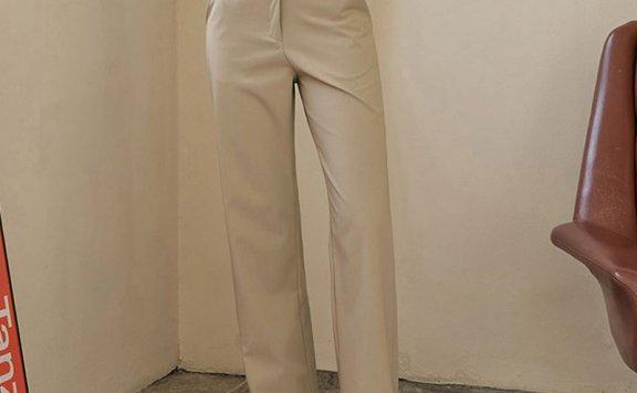 正品代购Siyazu 韩国设计师品牌 21春夏高腰直筒气质西裤长裤直邮