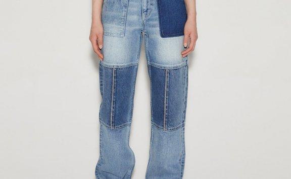 anderssonbell 韩国设计师品牌 21春夏 直筒水洗棉牛仔裤YKK拉链