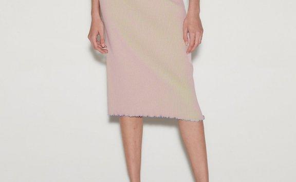 正品anderssonbell 韩国设计师品牌 21春夏 双色双面罗纹半身裙