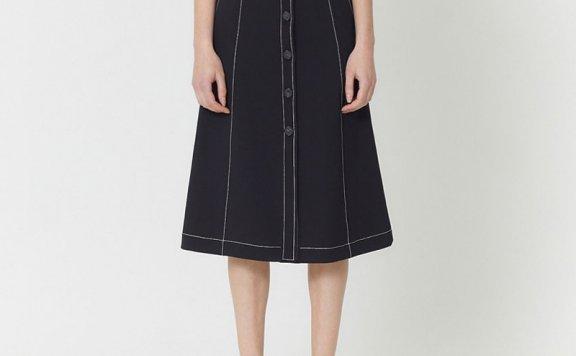 HAE BY HAEKIM 韩国设计师品牌 21春夏单排扣牛仔裙半身裙正品