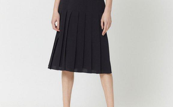 正品HAE BY HAEKIM 韩国设计师品牌 21春夏 荷叶腰设计百褶半身裙