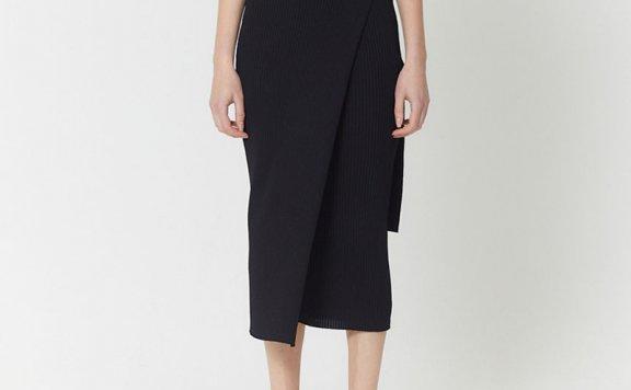 正品HAE BY HAEKIM 韩国设计师品牌 21春夏 层次针织裹身裙半身裙