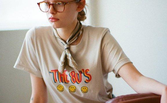 Siyazu 韩国设计师品牌 21春夏圆领字母印花宽松短袖T恤正品直邮