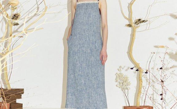 正品代购 ENOR 韩国设计师品牌 2021春夏度假风亚麻吊带裙连衣裙