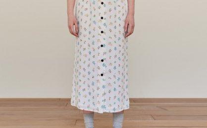 郑恩彩金娜英同款 AND YOU 韩国设计师品牌 21夏款碎花半身裙