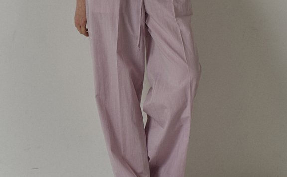 facade pattern 韩国设计师品牌 21夏 松紧腰系带阔腿裤休闲裤