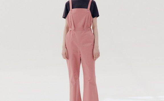 金娜英同款AND YOU 韩国设计师品牌 21夏款 肩带宽松阔腿连体裤