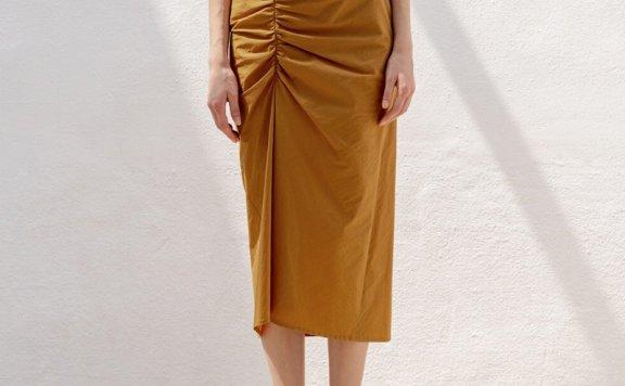 正品Refined902 韩国设计师品牌 19春夏 气质款高腰抽褶半身裙