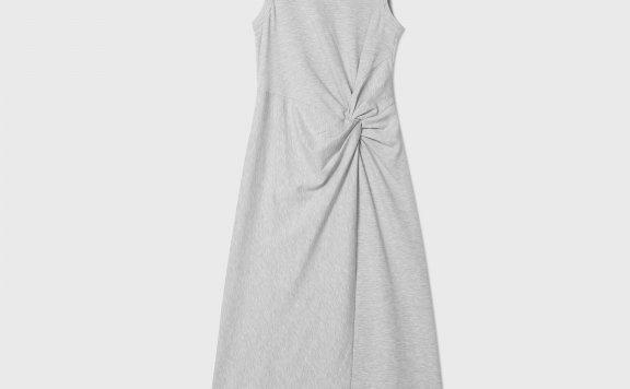 CLUB MONACO 21夏款 无袖要不抽褶针织长款连衣裙正品直邮