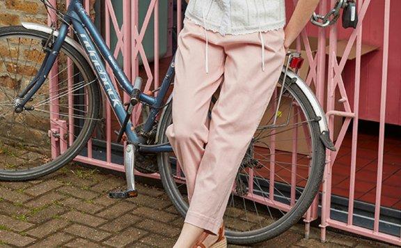 正品代购vocavaca 韩国设计师品牌 21夏 棉质压褶显瘦直筒长裤