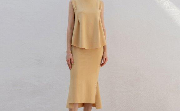 正品Refined902 韩国设计师品牌 19春夏 气质款不规则包臀半身裙