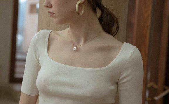 正品LENINA 韩国设计师品牌 21夏 日常基础款方领针织吊带背心