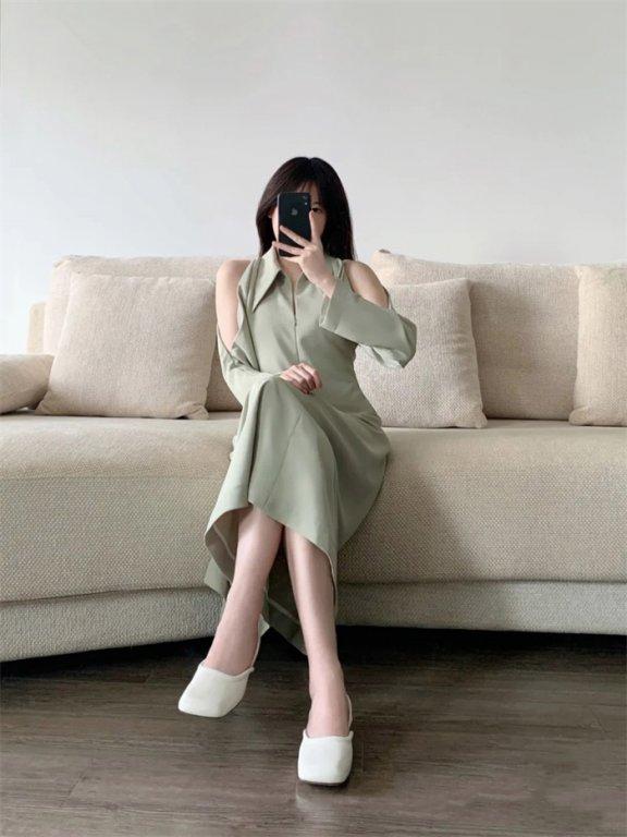 韩国小众品牌Low classic 时髦复古方头凉鞋