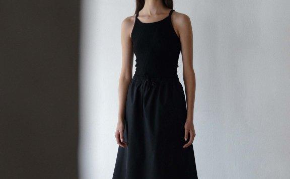 NOTHING WRITTERN 韩国设计师品牌 21夏 棉质松紧腰中长款半身裙