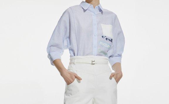 正品代购韩国设计师品牌DEWL 21夏 纯棉高腰可拆卸细腰袋牛仔短裤