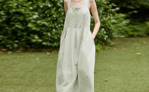 正品代购金保罗同款NONLOCAL 韩国设计师品牌 21夏 吊带连衣裙