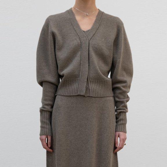lowclassic 21秋冬 韩国设计师品牌 纯色无领百搭羊毛针织开衫