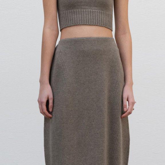 正品代购lowclassic 21秋冬 韩国设计师品牌 气质羊毛针织半身裙