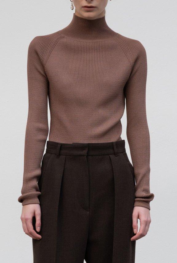 lowclassic 21秋冬 韩国设计师品牌 高领修身套头针织打底衫上衣
