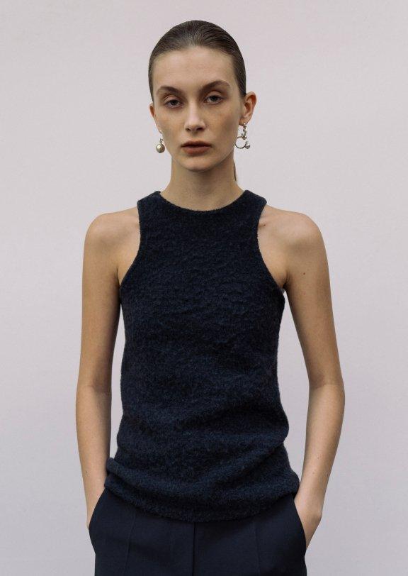 正品代购lowclassic 21秋冬韩国设计师品牌 圆领无袖打底羊毛背心