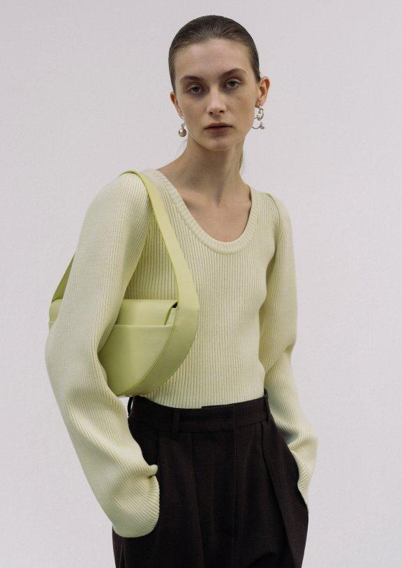 正品lowclassic 21秋冬韩国设计师品牌 圆领修身百搭套头针织衫
