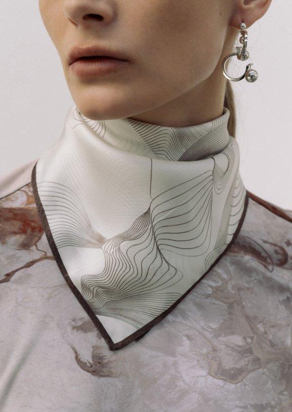 lowclassic 21秋冬 韩国设计师品牌 真丝印花丝巾方巾围巾直邮