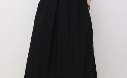 正品treemingbird韩国设计师品牌 21夏 褶皱领无袖宽松长款连衣裙