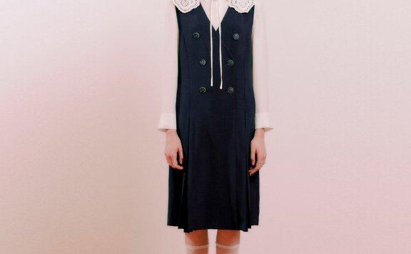 deark韩国设计师品牌 21秋款背心连衣裙无袖过膝长裙正品直邮