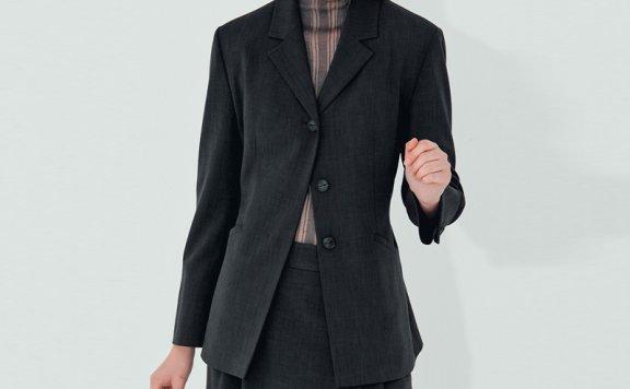 正品NUVO.10韩国设计师品牌 21秋款 宽松双纽扣宽松西装夹克外套