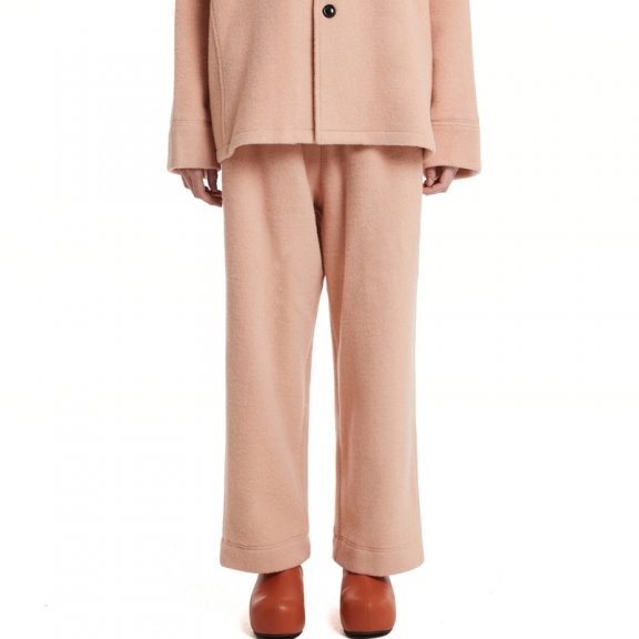 Trunk Project 21秋冬 韩国设计师品牌 羊毛混纺休闲直筒阔腿裤
