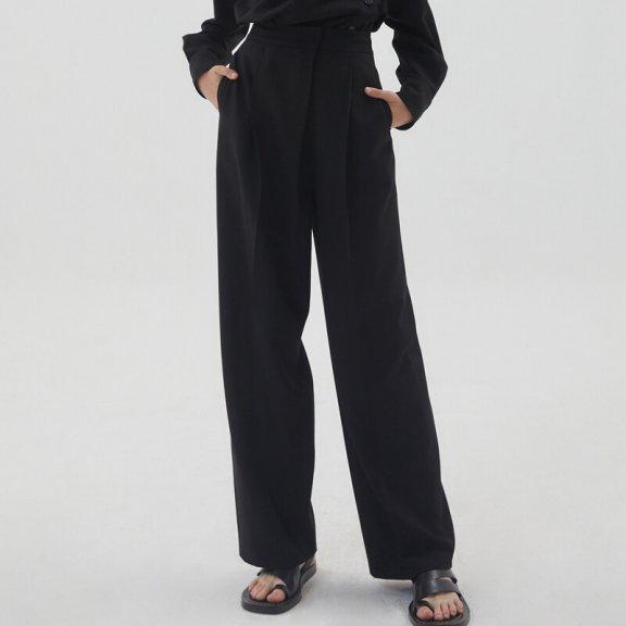 正品代购HAE BY HAEKIM 韩国设计师品牌 21秋冬 压褶直筒裤长裤