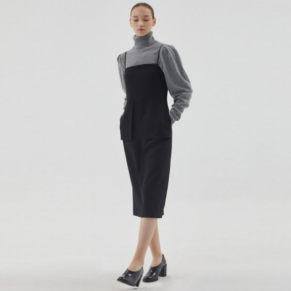 HAE BY HAEKIM 韩国设计师品牌 21秋冬 口袋吊带连衣裙正品直邮