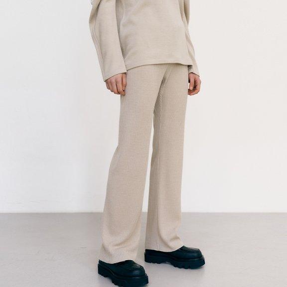 韩国设计师品牌MAISONMARAIS 21秋冬 简约百搭直筒针织长裤直邮