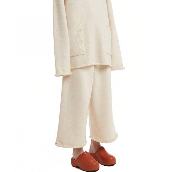 Trunk Project 韩国设计师品牌 21秋冬 松紧腰羊毛混纺休闲阔腿裤