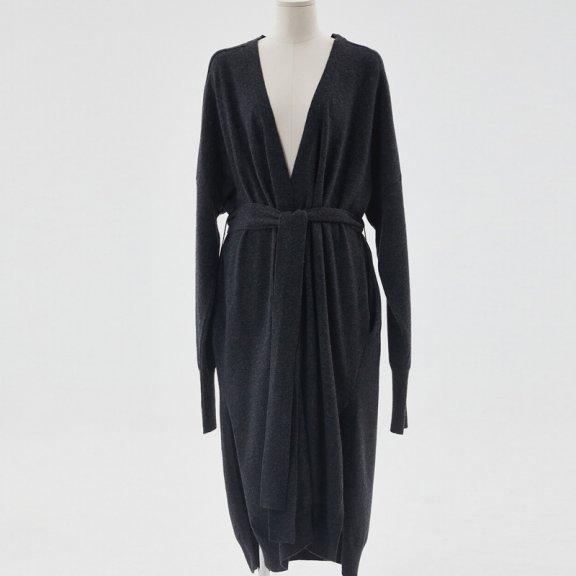 HAE BY HAEKIM 韩国设计师品牌 21秋冬 侧开叉羊毛长款开衫外套