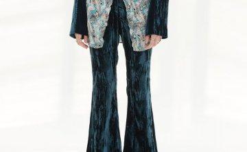 anderssonbell 韩国设计师品牌 21秋冬 高腰显瘦醋酸微喇裤长裤