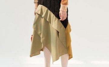 anderssonbell 韩国设计师品牌 21秋冬 小众设计前后撞色半身裙