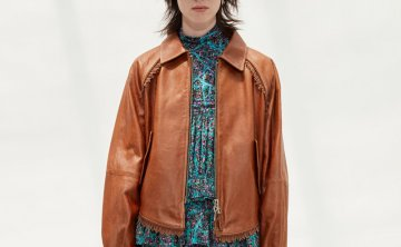 anderssonbell 韩国设计师品牌 21秋冬 流苏后开式皮衣夹克外套