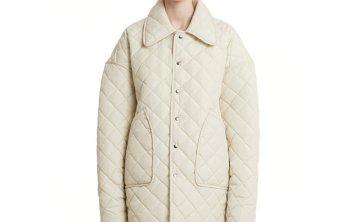 正品Trunk Project 韩国设计师品牌 21秋冬 翻领菱格面包服夹克