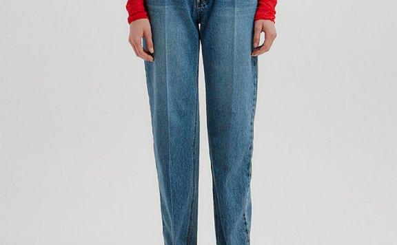 正品代购EENK 韩国设计师品牌 21秋冬 纯棉经典牛仔裤直筒裤长裤