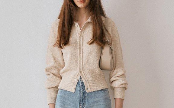 正品Dunst 韩国设计师品牌 2021秋冬 男女款翻领单排扣针织开衫
