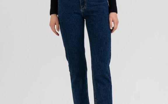 KINDERSALMON 21秋冬 韩国设计师品牌 百搭修身全棉牛仔裤长裤