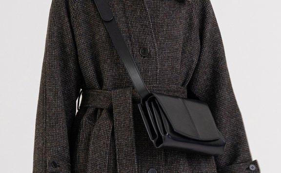 KINDERSALMON 21秋冬 韩国设计师品牌 小众设计感牛皮斜挎枕头包
