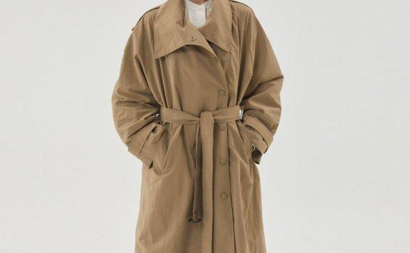 HAE BY HAEKIM 韩国设计师品牌 21秋冬 大翻领腰带款风衣外套直邮
